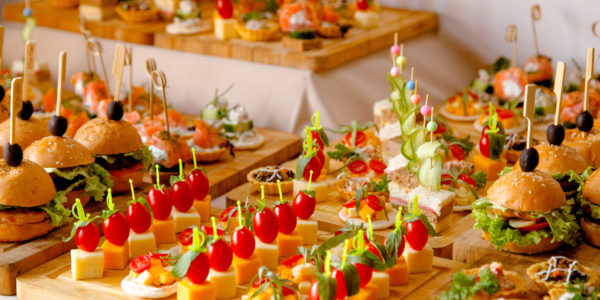 reception evenement buffet
